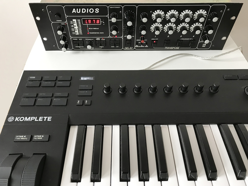 Klaus Fischer AUDIOS connected to MIDI keyboard by USB