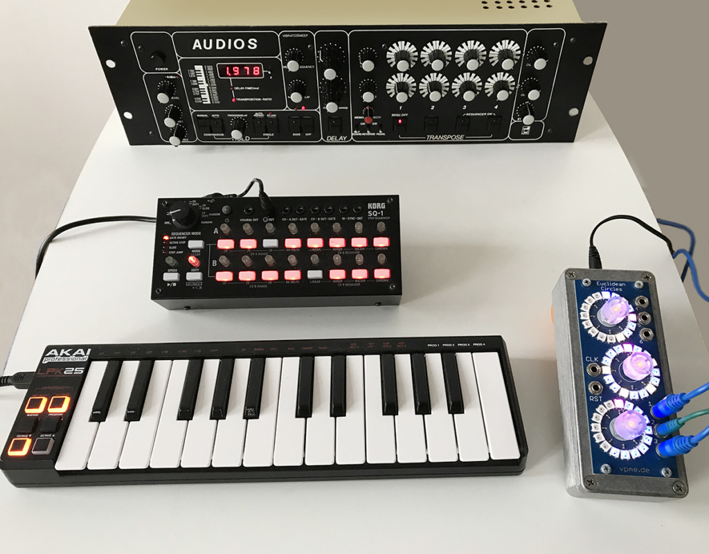Klaus Fischer AUDIOS connected to MIDI devices